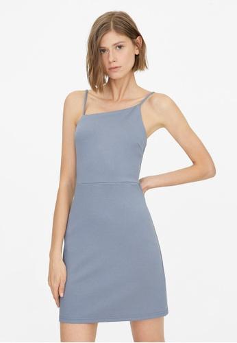 Pomelo blue Asymmetric Neckline Cami Dress - Blue 2AEFEAA2B464CFGS_1