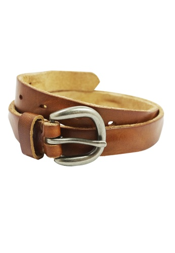 Private Stitch brown PRIVATE STITCH  0.5 inc Thin Stylish Leather Belt PR777AC20ANZMY_1