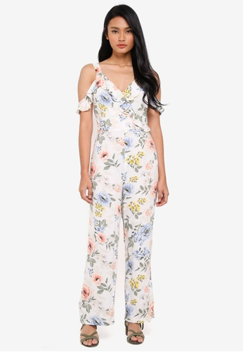 Dorothy Perkins white Petite Ivory Floral Jumpsuit 3B595AA2878CF5GS_1