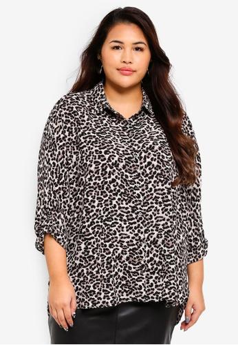 Only CARMAKOMA black Plus Size Nut 3/4 Shirt 60C32AAC204BA1GS_1