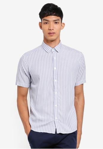 ESPRIT blue Vertical Stripes Shirt 53CDBAA7F25D62GS_1