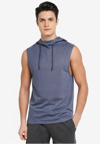Cotton On blue Coar Active Hooded Muscle Tank Top 4FAB5AAE299755GS_1
