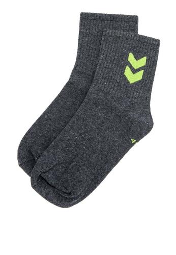 Hummel grey Short Sport 1-Pack Right Side Design Socks 09304AC8E1723EGS_1