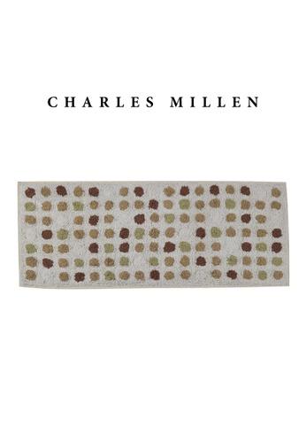 Charles Millen SET OF 2 Charles Millen BR-461 ( L )  Polka Dot Tufted Mat/ Bath Mat Mat 50 x 120cm 1.028kg 2B8A9HL9F857BCGS_1