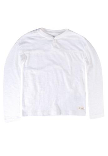 GAP white Colorblock Henley Tee 82F6DKAAE635C7GS_1