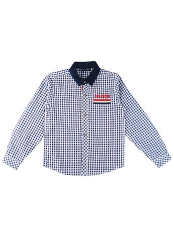KIDS ICON blue KIDS ICON - Kemeja Lengan Panjang Anak Laki-laki COLOURS With Checkered - CL501600200 3731EKA82600EFGS_1