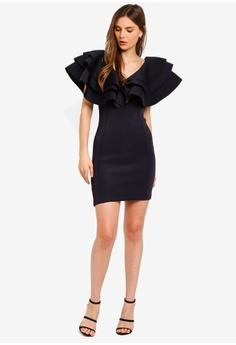 10aec43edd588 23% OFF Lavish Alice Exaggerated Tiered Sleeve Scuba Mini Dress HK$ 689.00  NOW HK$ 527.90 Sizes 8 10 12 14 16