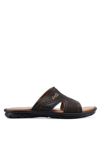 Louis Cuppers brown Faux Leather Sandals D4B56SH5AA7B65GS_1
