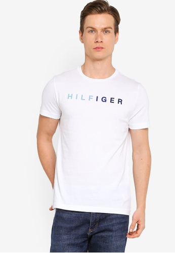 Tommy Hilfiger white Hilfiger Multi Tee 78B08AAC6CB863GS_1