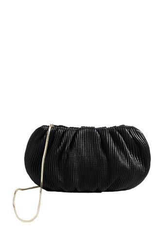 LINGWU black LINGWU Bubble Mini Corrugated Black Clutch 5EC47AC5E446ECGS_1