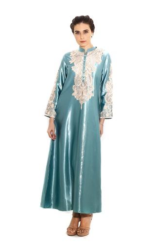 Adam.R green Zeytoun A-line Dress 08020AAC1A30FAGS_1