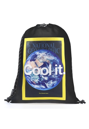 National Geographic black National Geographic Earth Drawstring Bag Black BE3E9ACC9264F0GS_1