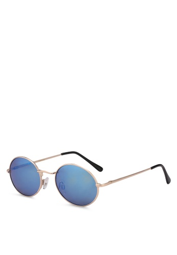 Mango gold Retro Style Sunglasses ECFD3GL56308E8GS_1