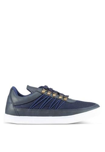 JAXON navy Mixed Materials Sneakers C63C2SH7C85802GS_1