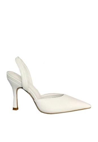 Twenty Eight Shoes white Elastic Slingback Pointed Heels VL6189 39D91SH241796BGS_1