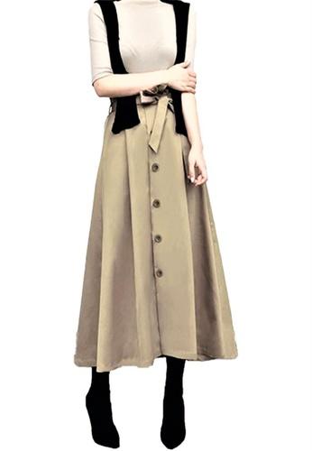 Sunnydaysweety brown New Khaki Button Down Skirt A05160911 5A422AA2ADCBB5GS_1