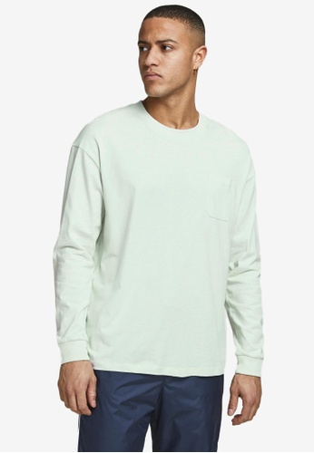 Jack & Jones blue Simple Long Sleeve T-Shirt F1C61AA940446CGS_1