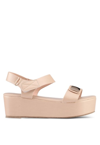 Mimosa pink Faux Leather Wedges C87E4SHE9F6777GS_1