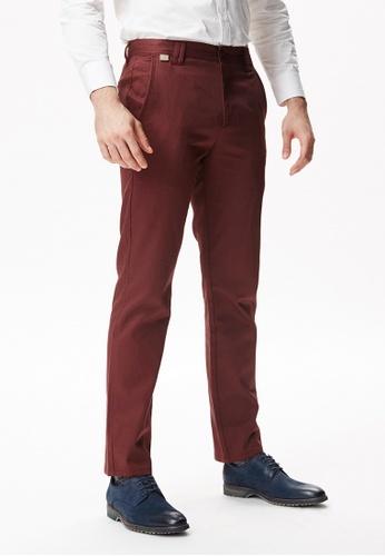 Life8 red Business Basic Pants-12004-Red LI283AA87EJOSG_1