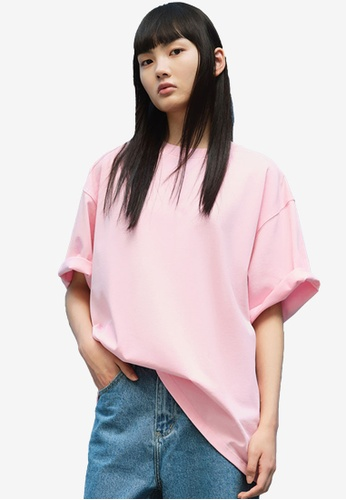 Urban Revivo pink Oversized T-Shirt 5FE8CAAB428C30GS_1