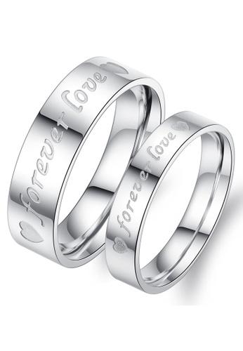 Trendyshop silver Couple Rings Set 9AB3EAC71000C3GS_1