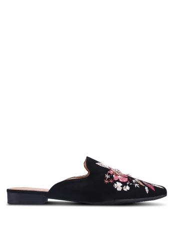 Noveni 黑色 花卉平底鞋 416B0SH834B49CGS_1