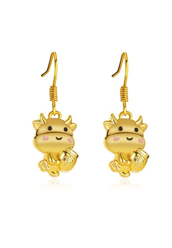 Glamorbit gold Ox Chinese New Year Earrings 49BE1AC47BB108GS_1