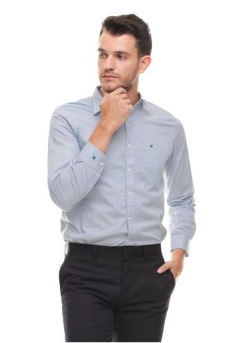 Johnwin blue Johnwin - Slim Fit - kemeja Formal - lengan Panjang - Biru BE3DDAAF24BA77GS_1