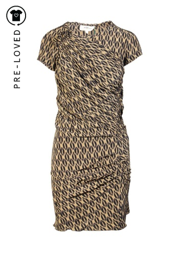Isabel Marant Etoile brown Pre-Loved isabel marant etoile Silk Draped Dark Brown and Black Dress 6DC4DAA033D41CGS_1