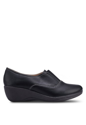 Louis Cuppers black Faux Leather Wedges 84721SHD83B457GS_1