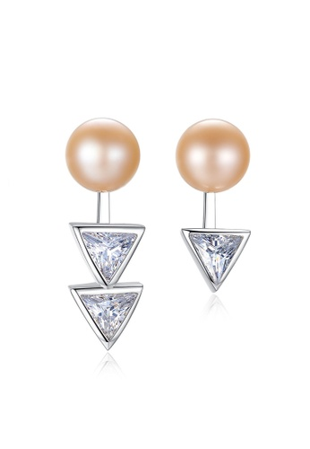 A.Excellence pink Premium Pink Pearl Elegant Earring 1470EACF3F81DEGS_1
