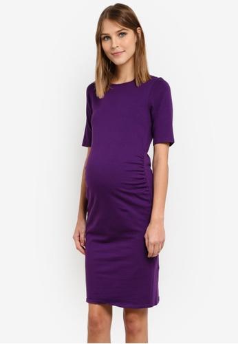 Dorothy Perkins purple Maternity Bodycon Dress DO816AA0SD4XMY_1