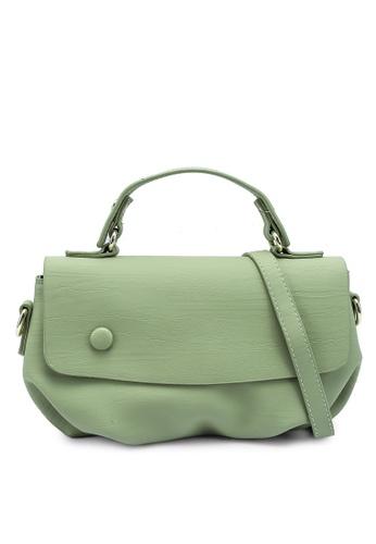 Bagstationz green Faux Leather Convertible Satchel Bag 9EB35ACEBE8EA0GS_1