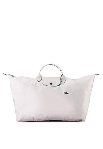 Longchamp white Le Pliage Club L Travel Bag (zt) 22829AC2B4945CGS_1