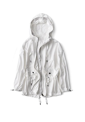 Twenty Eight Shoes white VANSA Mid-Length Style Wind Jacket VCW-T50 60B47AADD667F4GS_1