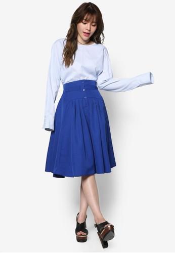 蓬鬆褶飾及膝裙, 服飾esprit outlet, 裙子