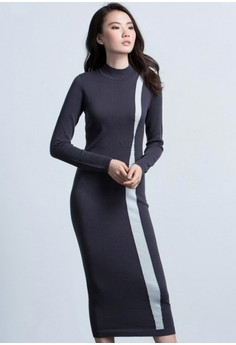 Miss Femme Sophisticated Knit Dress