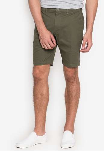 MARKS & SPENCER green Opp Cotton Stretch Chino Shorts 1F9D7AA66138F5GS_1