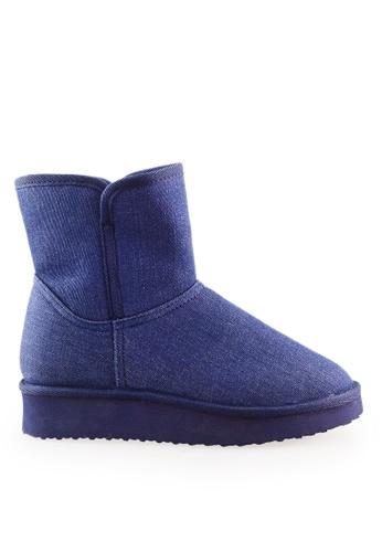 Footspot blue FOOTSPOT - Wedge Snow Boots FO296SH2WCB3HK_1