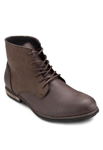 Gorellan 仿皮繫帶踝靴esprit門市地址, 鞋, 鞋