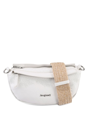 Desigual white Half-Moon Shoulder Bag 7FA87AC41B8CDBGS_1