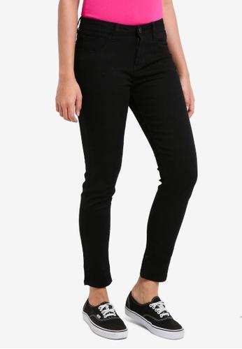 Penshoppe black All Day Low Waist Jeans CE16BAA2F3417CGS_1