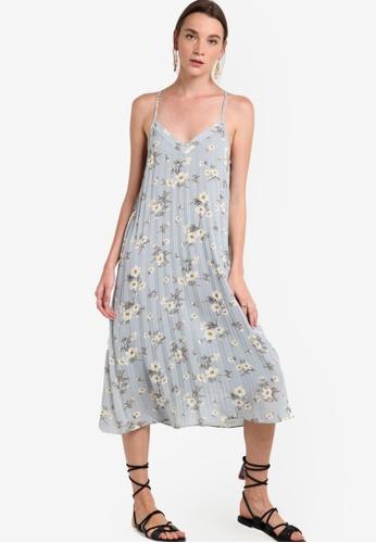 ZALORA blue Collection Pleated Midi Dress 9EA6FAAA310697GS_1