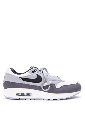 Nike grey Men's Nike Air Max 1 Shoes NI126SH0STU1MY_1