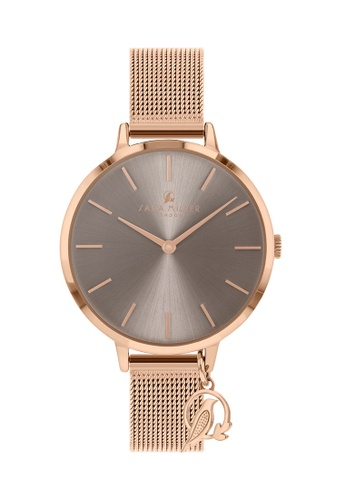 Sara Miller grey and gold Sara Miller London - Chelsea Charm Watch 34mm-  Grey/Rose Gold Mesh (SA4024) DA933ACACDBBDEGS_1