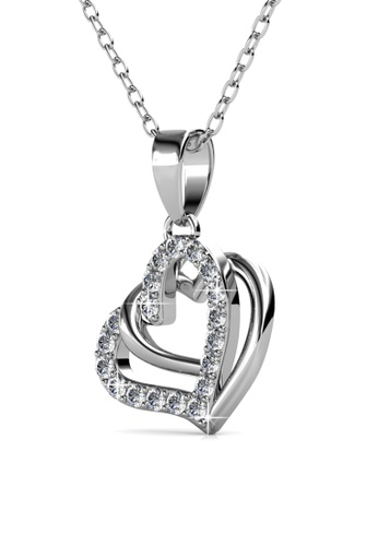 Her Jewellery silver Vena Love Pendant -  Made with premium grade crystals from Austria HE210AC0GLSVSG_1
