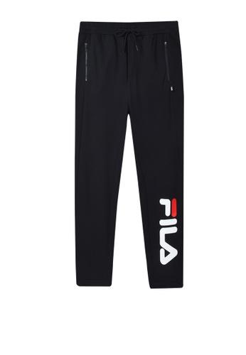 FILA black FUSION Vertical FILA Logo Cotton Jogger Pants 2BBBEAAA089A16GS_1