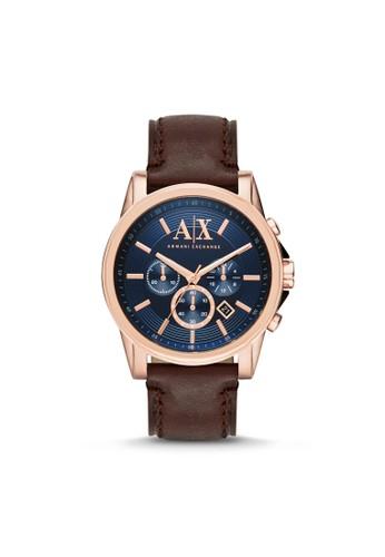 Outerbanks紳士品味三眼計時腕錶 AX2508, 錶類, 紳士esprit hk outlet錶