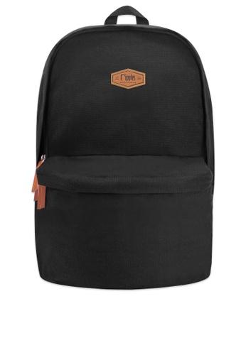Ripples black Sienna Basic Canvas Backpack B99E4ACAB39FA1GS_1