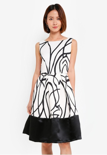 CLOSET white Contrast Hem Dress B29D0AADC7C865GS_1